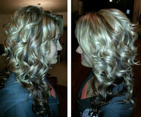 hairstyles with dark underneath pictures curly long hair blonde highlights and lowlights dark