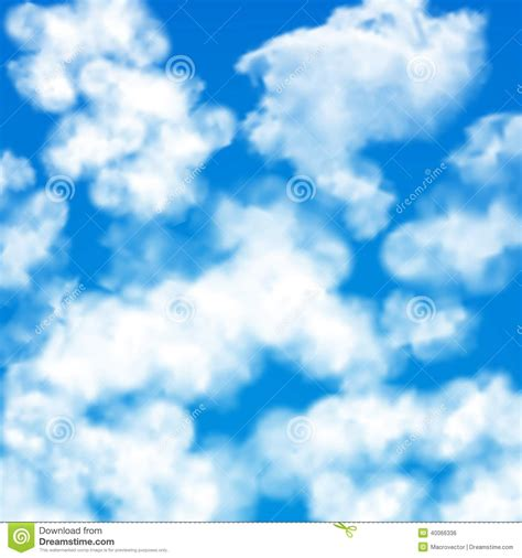 pattern blue sky sky clouds seamless pattern stock vector image 40066336