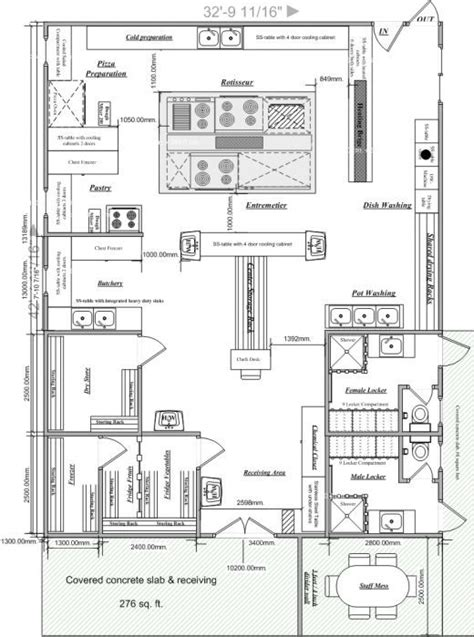 kitchen floor plans with dimensions blueprints of restaurant kitchen designs restaurant