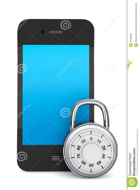 Alarm Lock Mobil mobile phone with lock stock photos image 27703053
