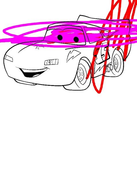 awesome lighting mcqueen  disney cars coloring page