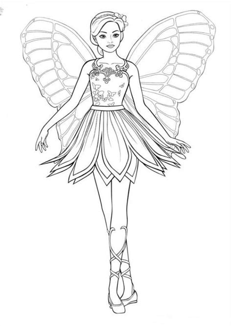 kids n fun com 12 coloring pages of barbi mariposa