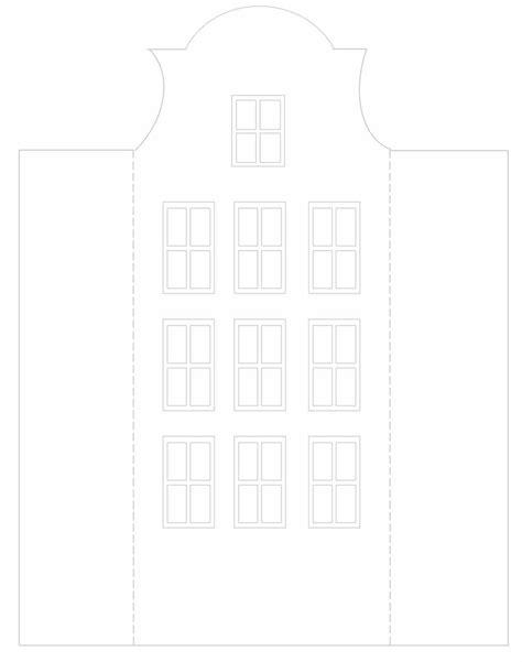 card house template diy canal house luminaries