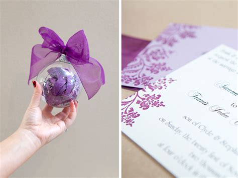 turn an invitation into a keepsake ornament craft