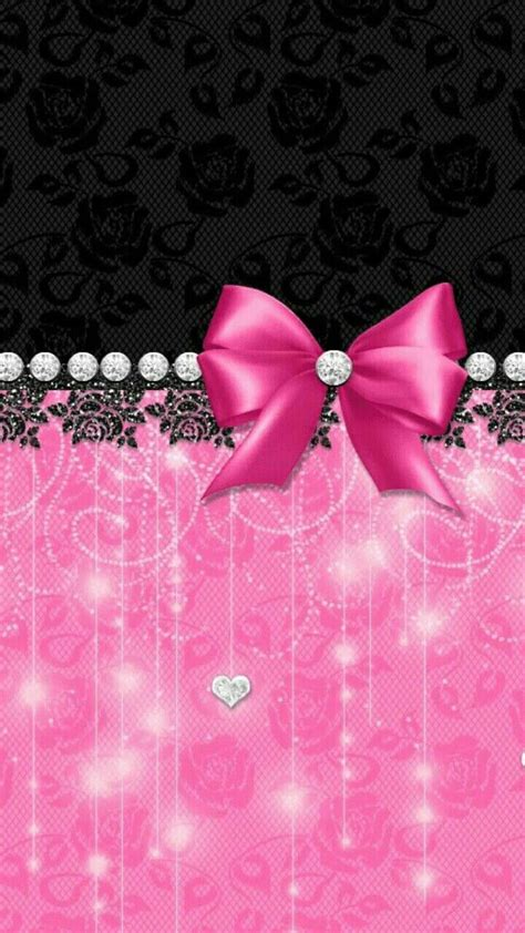 wallpaper pink bow wallpaper by artist unknown bling my walls fit to
