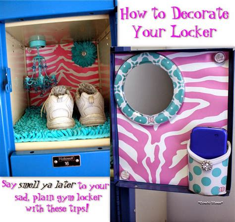 condo blues how to decorate a locker with lockerlookz
