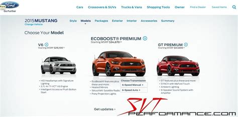 2015 mustang build and price news 2015 mustang build price site svtperformance