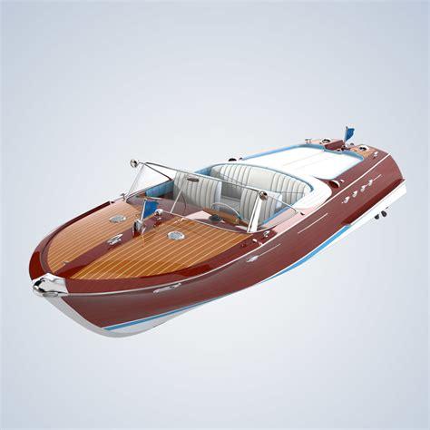 titanic motor boat riva aquarama boat 3d model