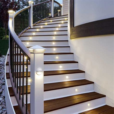 led lights for stairs amazon com led stair light bronze 4 pack