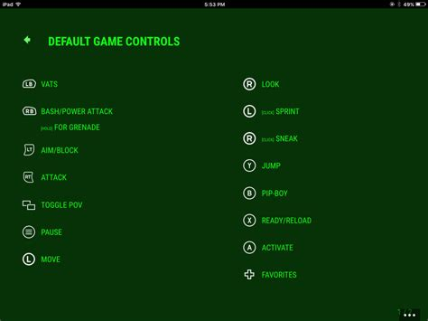 layout no pc fallout 4 s default controller layout revealed for xbox
