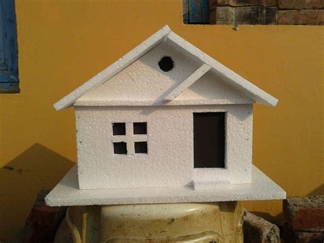 build a 3d house how to make a simple thermocol model house thermocol