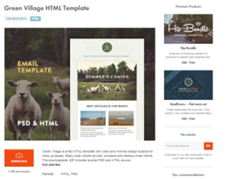 best responsive email templates 2016 free designs hub