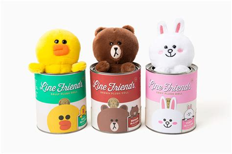 Line Official Merchandise Season 4 Brown Plush Doll 28cm line friends tin can plush brown cony character soft stuffed doll 6 quot 3types ebay
