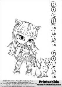 monster high rochelle goyle baby chibi cute coloring page11134 sketch template