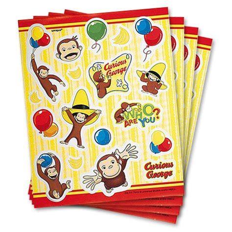 Curious George Stickers curious george stickers 4 sheets