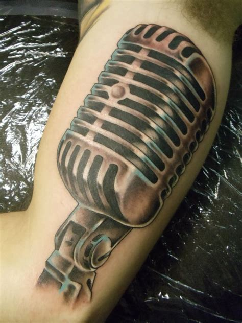 music mic tattoo designs 60 awesome microphone tattoos