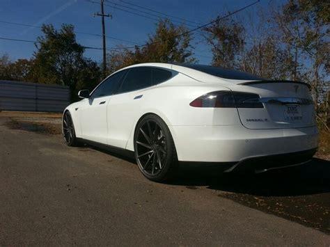Vossen Tesla Tesla Model S P85 On 22 Quot Vossen Cvts Refinished In Matte