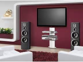 Wide carpet rug facing stylish wall mount tv stand inside modern room