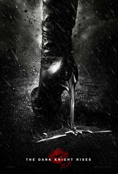 dark posters the dark knight rises poster catwoman leaves her mark