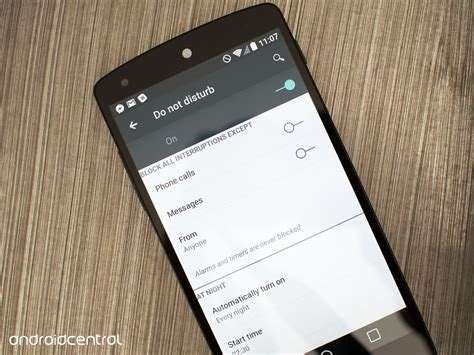 Android Do Not Disturb by Android L Preview Do Not Disturb Mode Android Central