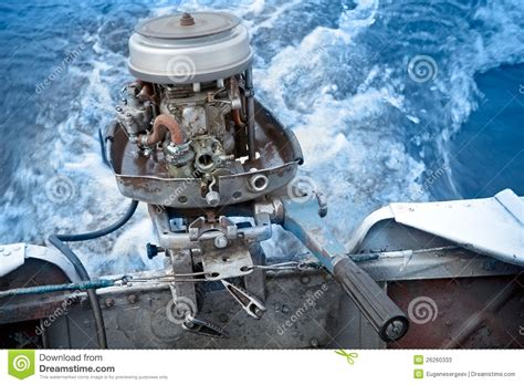 outboard boat without motor old boat outboard motor works without cover stock photos