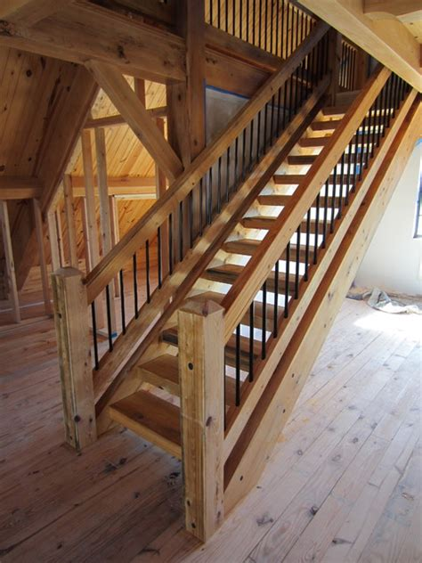 Timber Stairs Design Timber Stair Rail Contemporary Staircase Ta By Heirloom Timber Framing