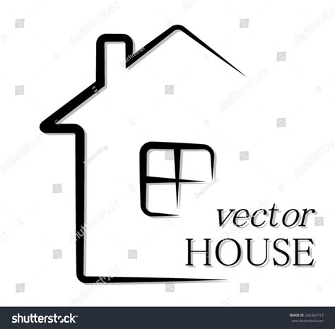 house line drawing images stock photos vectors shutterstock simple outline house vector pictogram illustration stock
