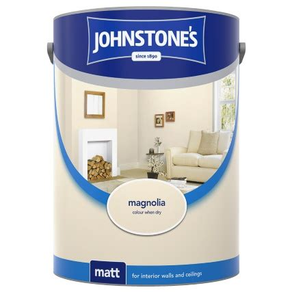 johnstones matt emulsion magnolia  paint diy painting
