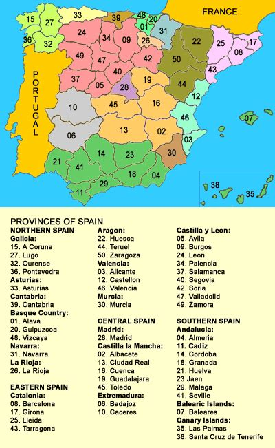 map of spain provinces map of provinces of spain travel journal ing