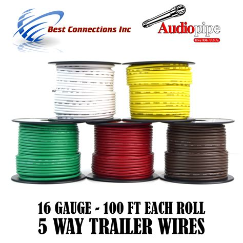 trailer wire light cable for harness 5 way cord 16