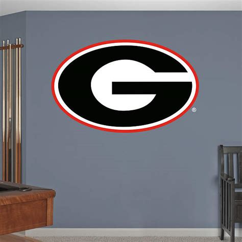georgia bulldog home decor georgia bulldogs logo wall decal shop fathead 174 for