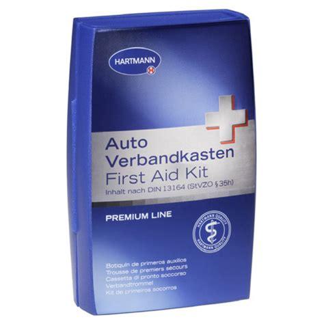 Auto Verbandskasten öffnen by Sehr Gut Hartmann Auto Verbandkasten Din13164 Prem Line