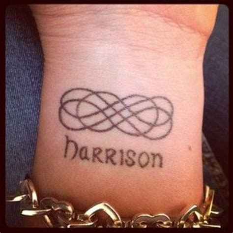 infinity knot tattoo with names 47 best tattoos images on pinterest starfish tattoos