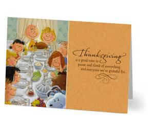peanuts business thanksgiving cards