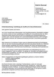Anschreiben Initiativbewerbung Rechtsanwalt Bewerbung Kauffrau F 252 R Gesundheitswesen Ausbildung Sofort