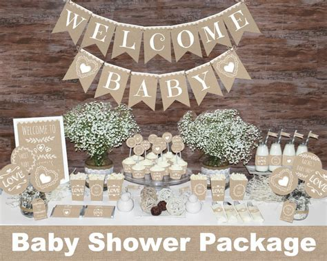 Etsy Baby Shower Decorations by Rustic Baby Shower Decorations Printable Gender Neutral Baby
