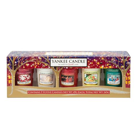 official yankee candle christmas gift 5 votive gift set