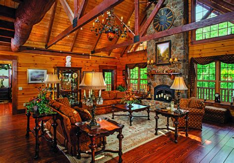 great log home great rooms