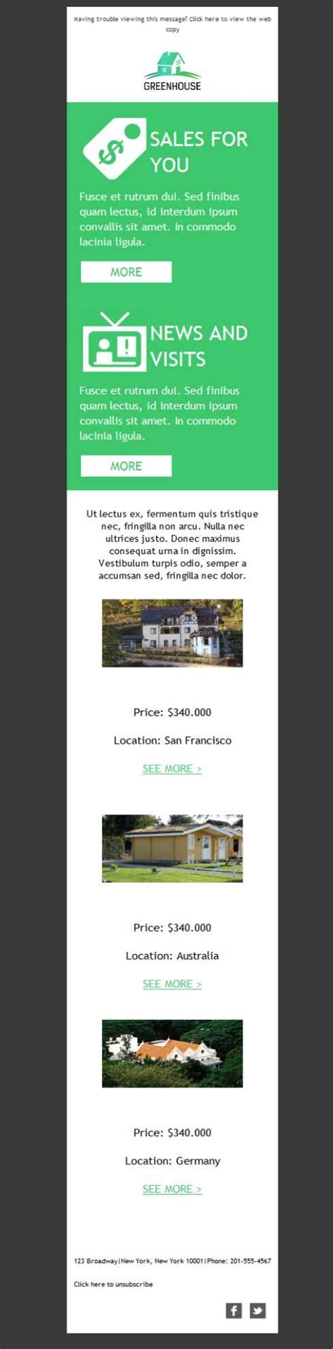 green house real estate template emailing gratuit t 233 l 233 chargez le mod 232 le real estate greenhouse