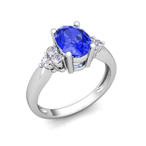 3 and ceylon sapphire engagement ring