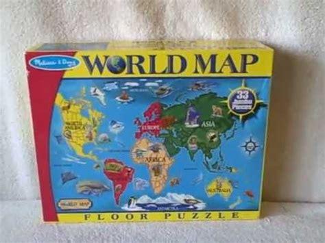melissa  doug giant world map floor jigsaw puzzle