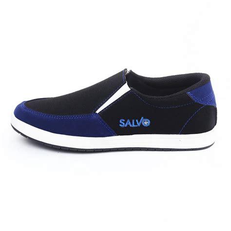 Sepatu Casual Salvo Salvo Sepatu Kasual A01 Hitam Biru Lazada Indonesia