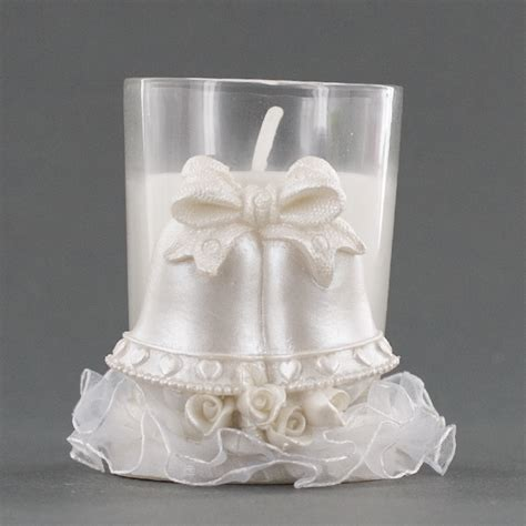 Wedding Bell Favors Wholesale by Pair Of Wedding Bells Candle Holder Favor