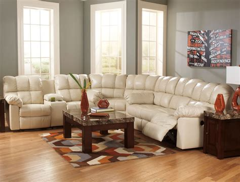 ashley white leather sofa awesome sectional sofas with recliners for dwelling room
