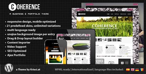 themeforest offers themeforest coherence responsive business portfolio