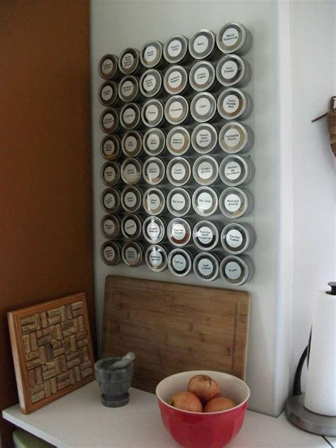 Spice Rack Magnetic culinarian magnetic spice rack 48 spice tins versa board spice labels ebay