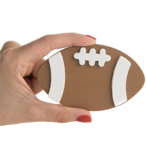 woodwork in football painted wood football cutout sports and cheerleading