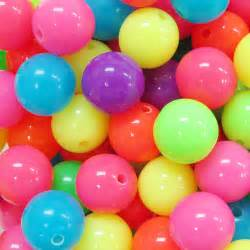 colored balls 60pcs 12mm colorful neon color small opaque by