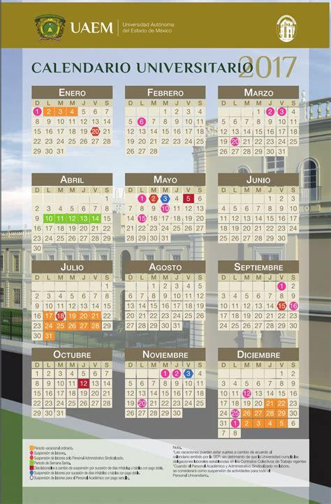 calendario escolar 2016 2017 de la uaemex secretar 237 a de administraci 243 n direcci 243 n de recursos humanos