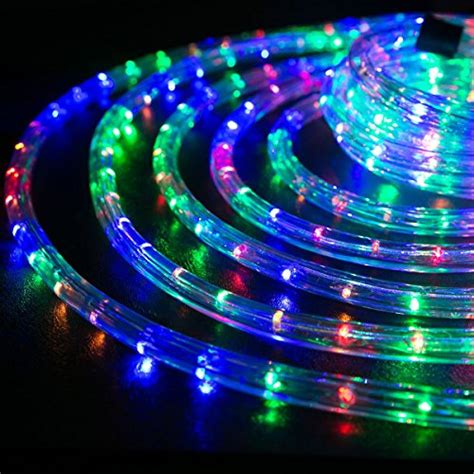 wyzworks 50 feet 1 2 thick multi color rgb pre assembled